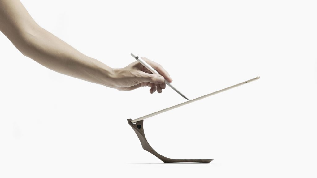 iPad Pro Stand with Apple Pencil Holder